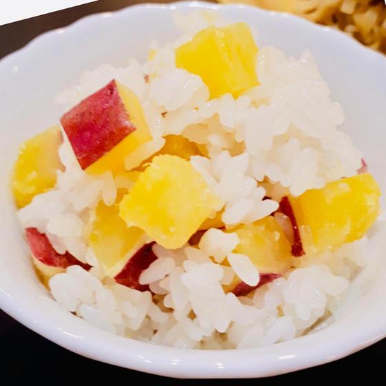 秋和食:サツマイモおこわ、魚の幽庵焼き、鼈甲餡掛け豆腐
