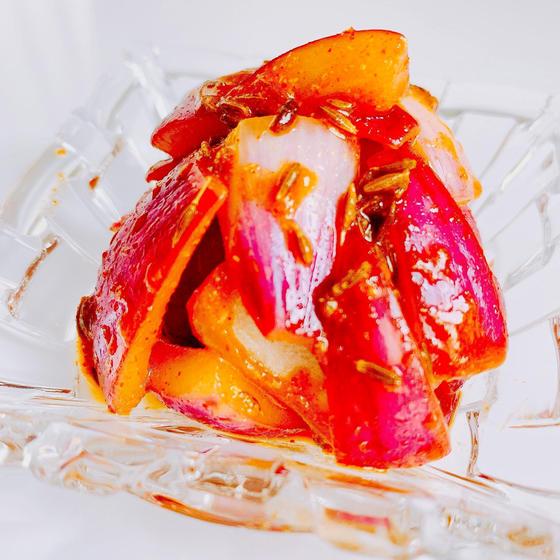 赤玉ねぎのクミンピクルス