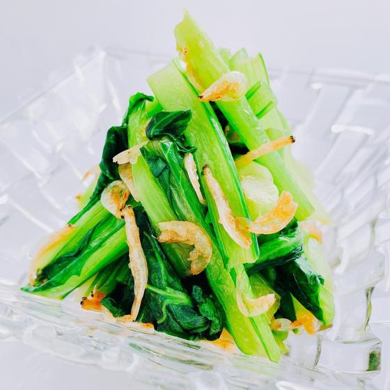 小松菜の干し海老和え