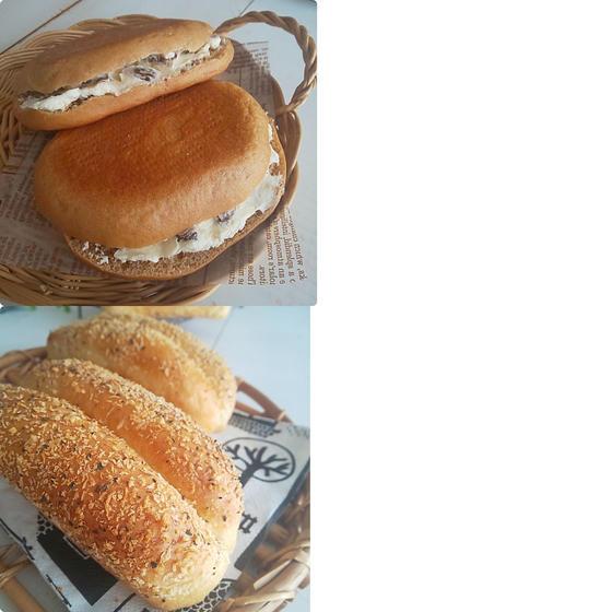 モッツァレラベーコンコッペとシナモンチーズサンド