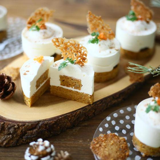 キャロットチーズムースケーキ