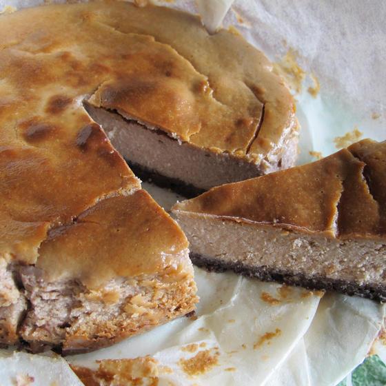 栗のベークドチーズケーキ