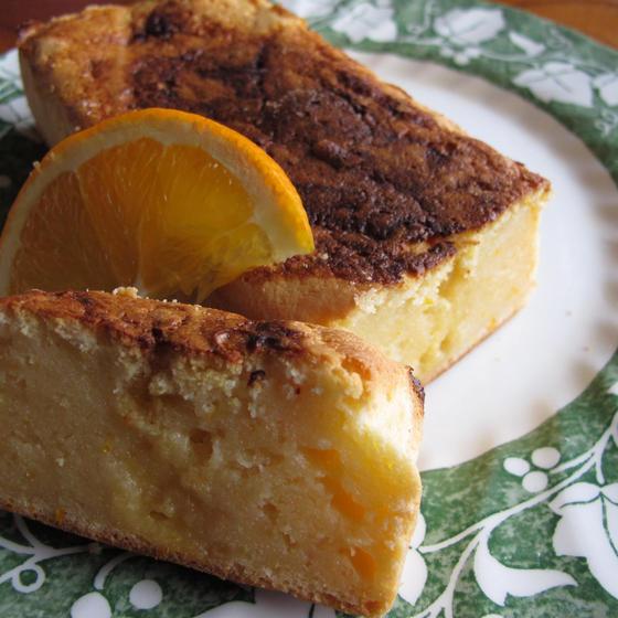 オレンジ風味のリコッタチーズケーキ