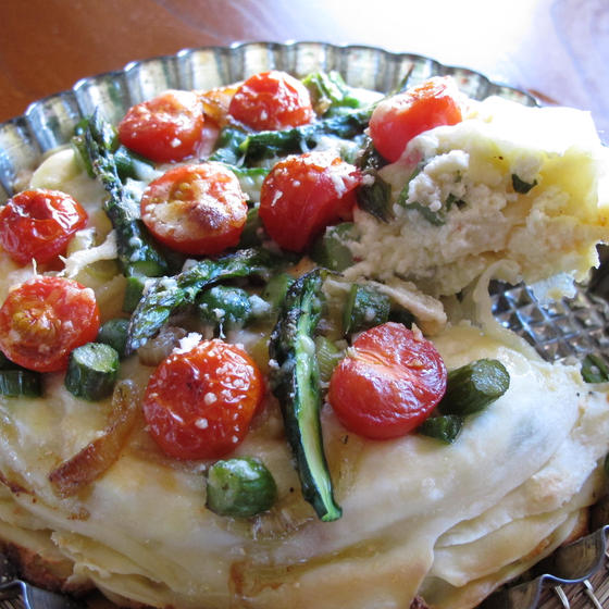 季節野菜のタルト