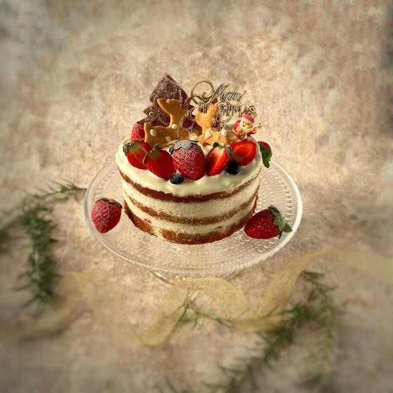 クリスマスケーキを米粉で作りましょう❣️