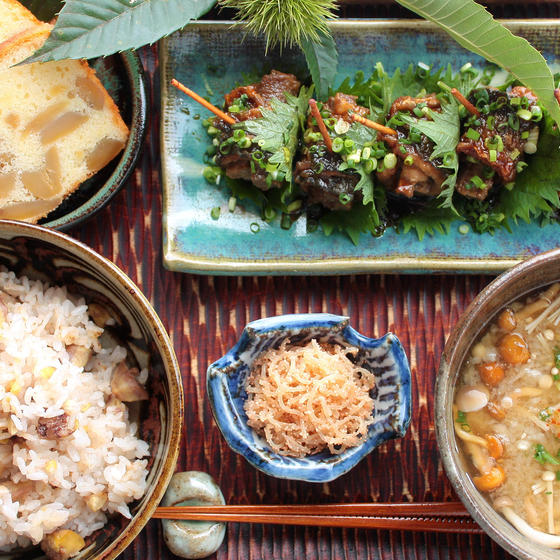 茨城の農園直仕入れの大粒栗で作る栗料理と、滋養の郷土料理献立