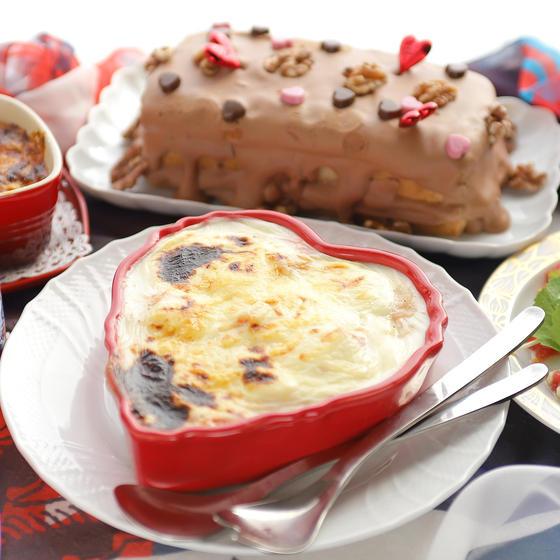 絶品ドリア2種とチョコクリームケーキ!立春&バレンタイン献立