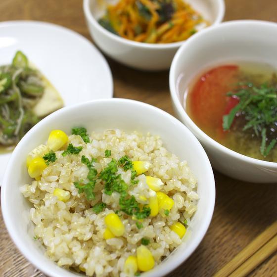 玄米と旬のお野菜教室