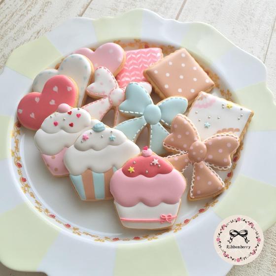 アイシングクッキーフラワーケーキ教室ribbonberry