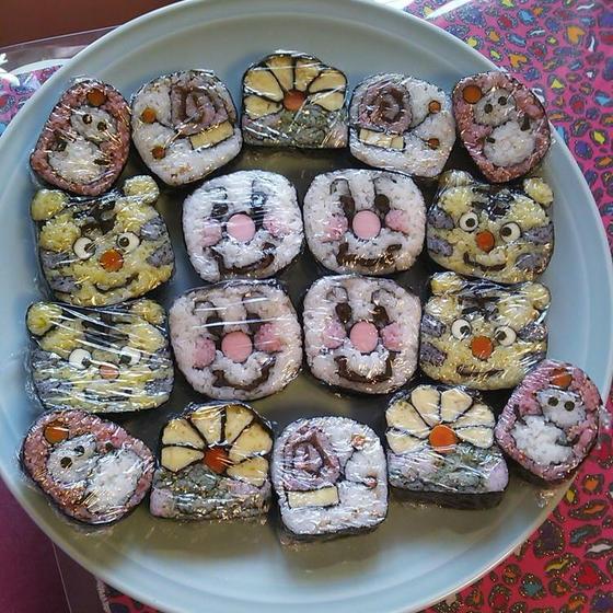 びわ巻子の飾り巻寿司教室