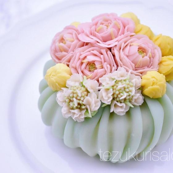 あんフラワーケーキ&和菓子練り切り教室手作りサロンWA