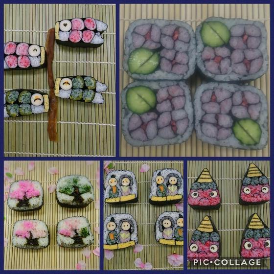 子供も一緒に参加できる デコ巻き寿司教室キッチンルアナ