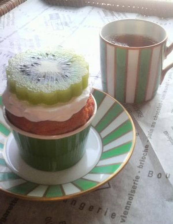 キウィ・カップケーキ
