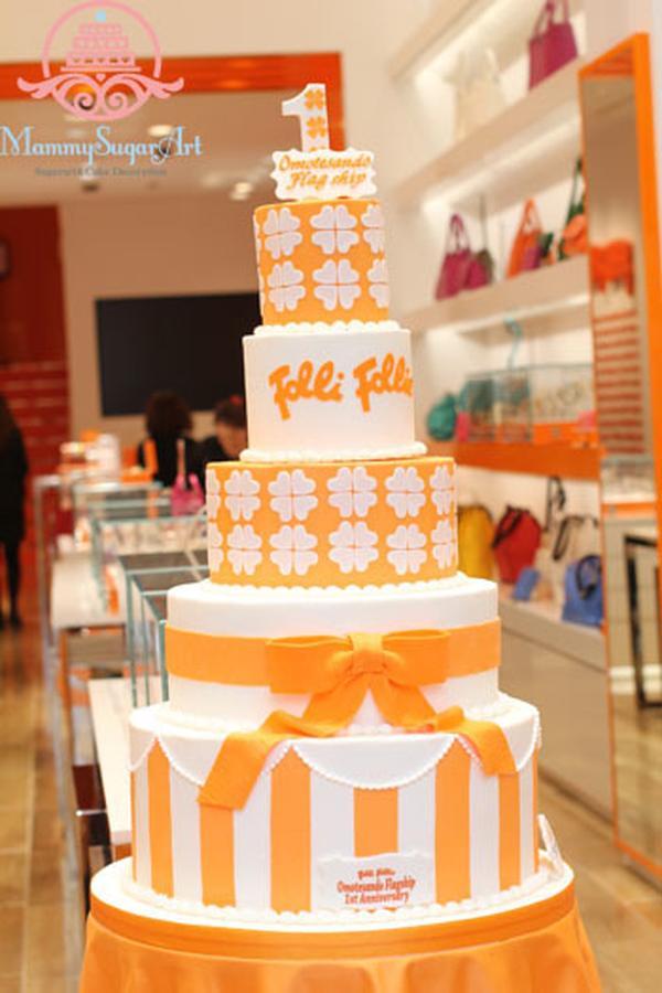 フォリフォリフラッグシップ表参道店一周年記念イベント用ケーキ