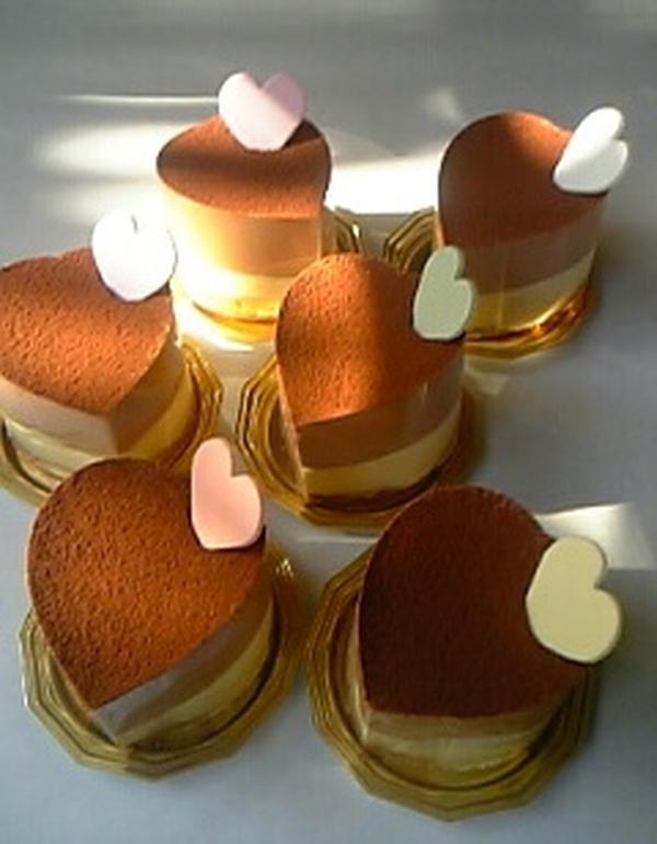 バレンタインのチョコムース。ハート型で!