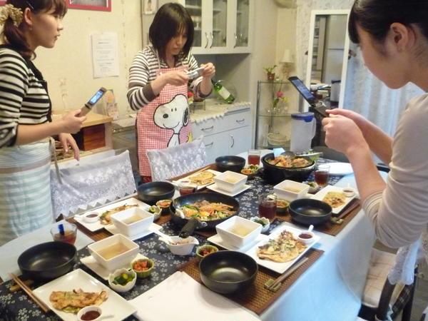 生徒様と料理写真撮影