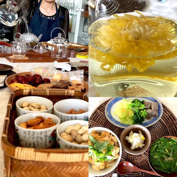 中国茶コラボ:座学+薬膳ランチ+中国茶