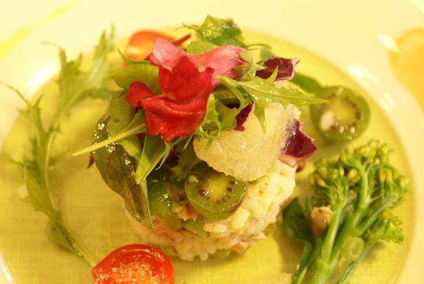 春野菜たっぷりのお米のサラダ