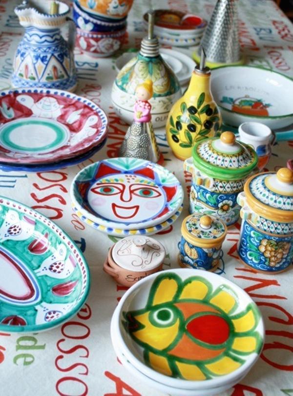 イタリア各地で購入した陶器を使用しています。