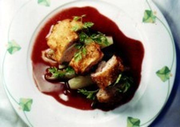 ●教室料理レシピ:地鶏のロチ赤ワイン仕立て
