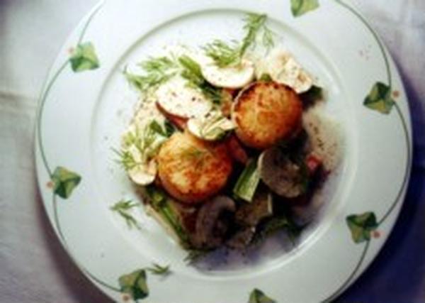 ●教室料理レシピ:帆立貝と小松菜