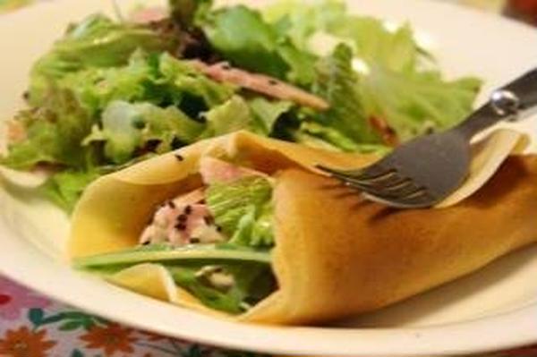 野菜のクレープ
