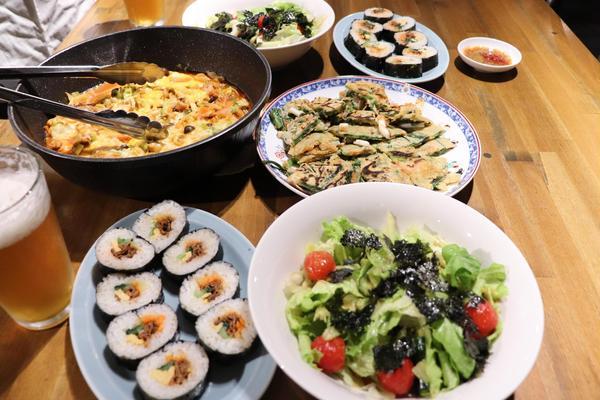 酒の肴とお酒の会にて 韓国料理