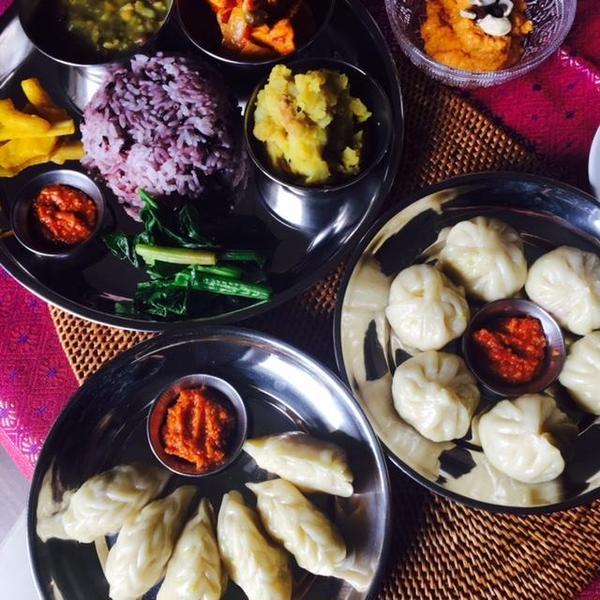 ネパールビーガン料理のレッスン。
