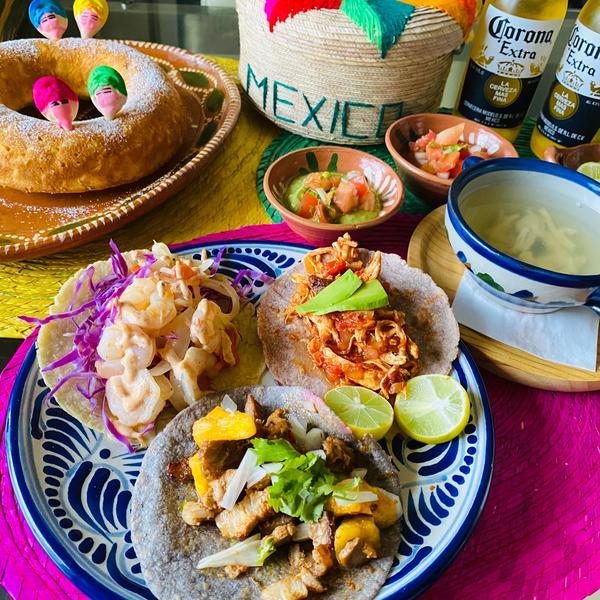 現地の味!メキシコタコス料理。