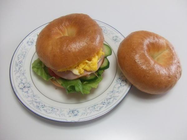 ベーグルサンドイッチです