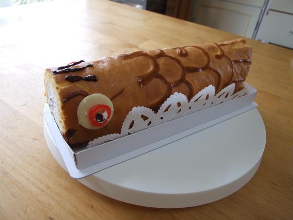 鯉のぼりのロールケーキ