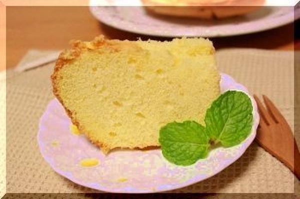 2013年1月の米粉のシフォンケーキです♪
