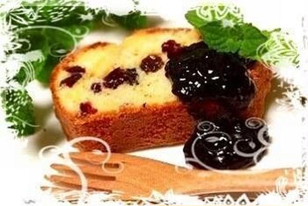 6月ノンバター・ベリーベリーパウンドケーキです♪