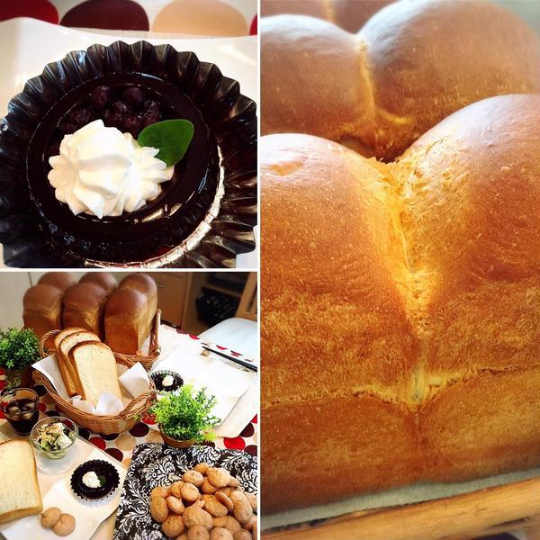 JHBSファミリーコースⅡ 山型食パンとブルーベリーゼリー