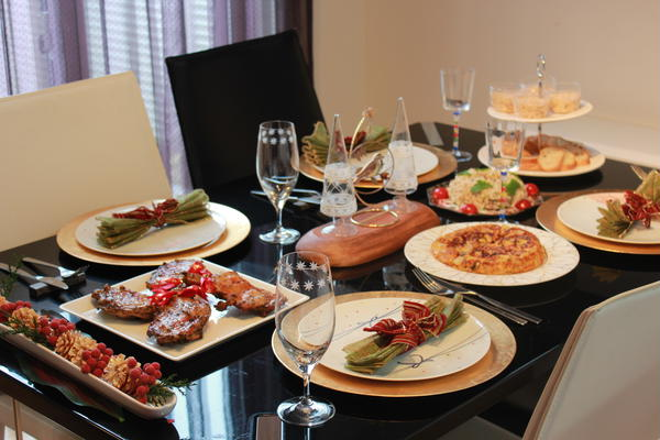 自宅でのクリスマス料理レッスン