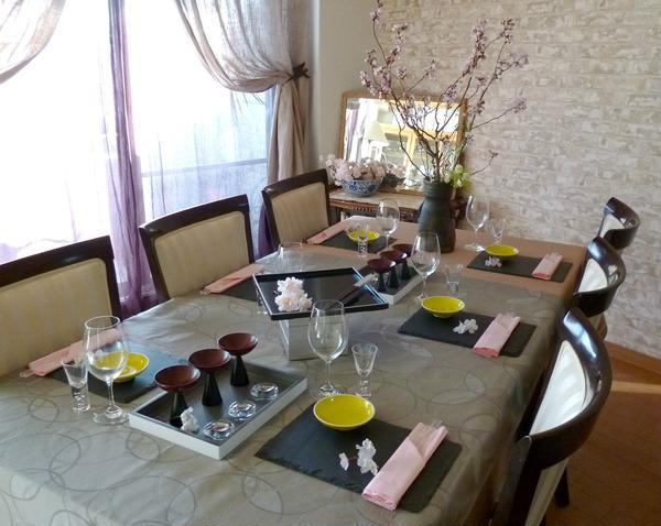 2012年4月『桜を愛でる和モダンテーブル』