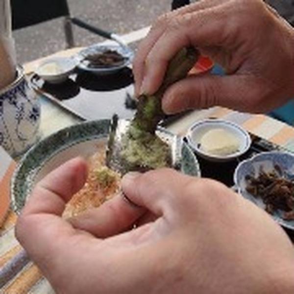 野迫川村の生わさびを使ったお料理レッスンもあります。