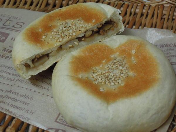 れんこんと豚挽肉のおやきパン