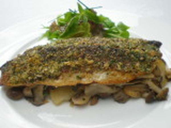 秋刀魚と秋野菜 にんにくパセリ風味グラチネ
