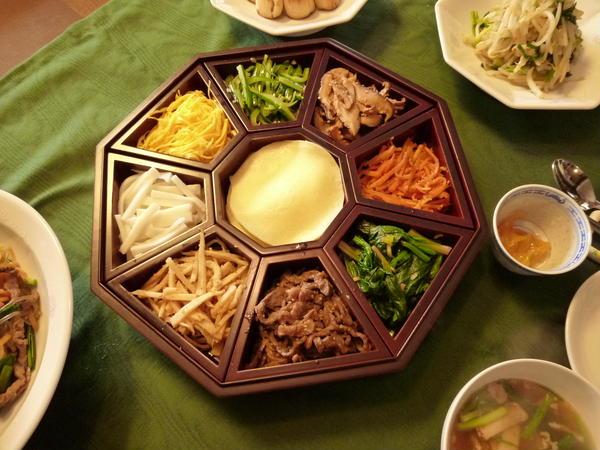 韓国料理。クジョルパン