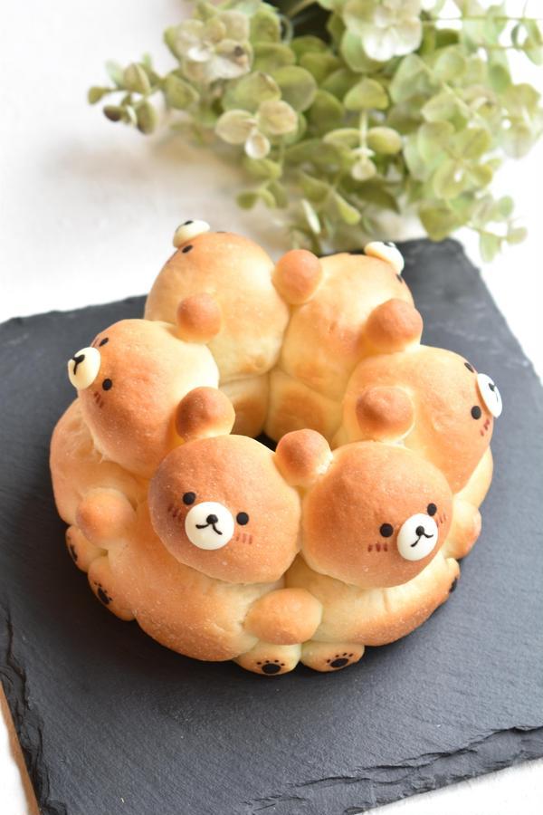 くまさんの3Dちぎりパン