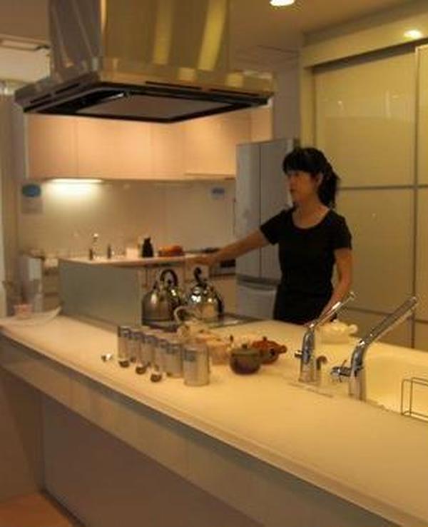 キッチンショールームでの日本茶教室