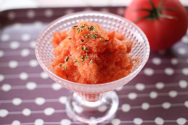トマトのシャーベット 簡単デザートのご紹介