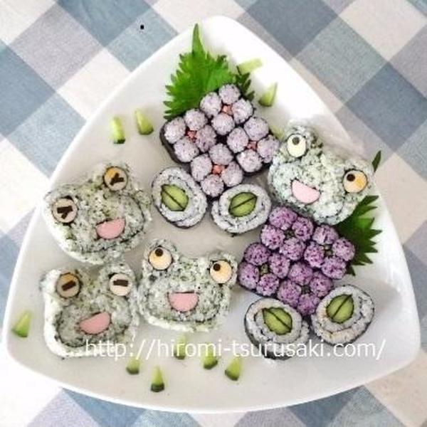 6月「季節の飾り巻き」レッスン♪ 料理もおすしも選択◇