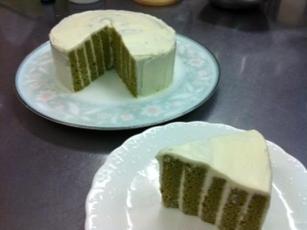 「抹茶とチーズクリームのケーキ」