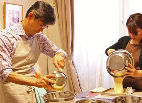 お菓子も、イタリア料理も男性のご参加を歓迎します!