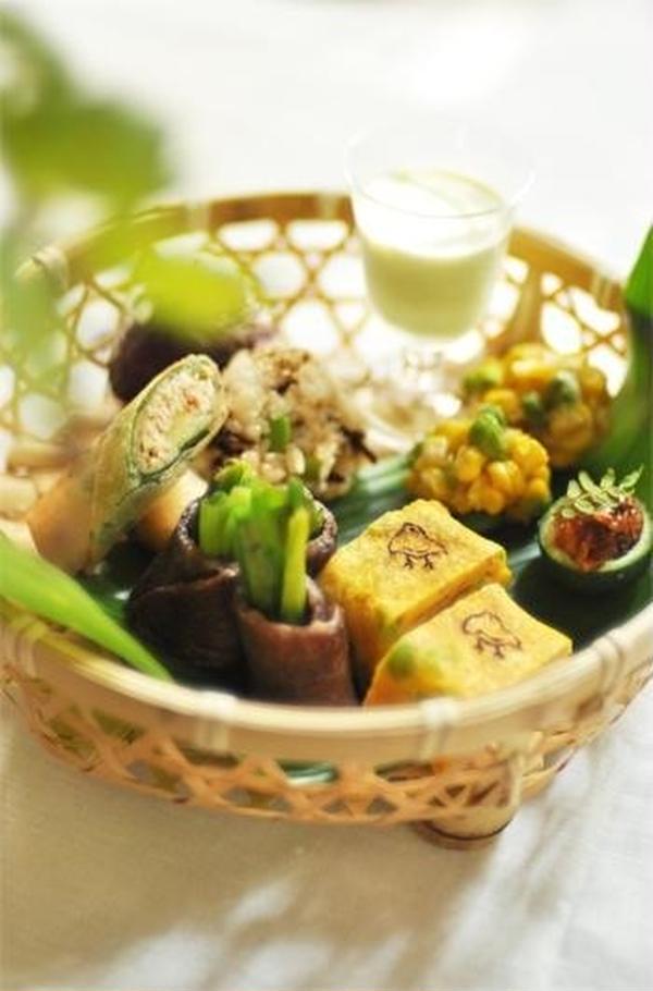 夏和食 竹籠弁当