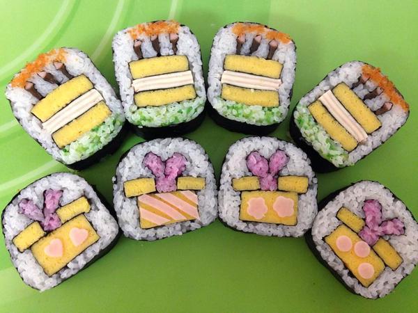飾り巻き寿司 バースデーケーキ プレゼントBOx