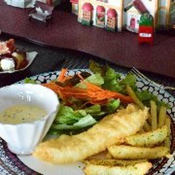 イギリス料理の会。 フィッシュ&チップス。カリカリにする方法
