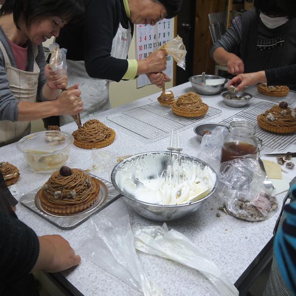 お菓子教室(モンブラン)